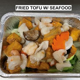fried tofu w/ seafood