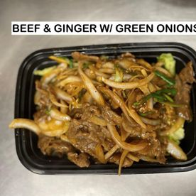 beef & ginger w/ green onions