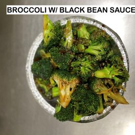 broccoli w/ black bean sauce
