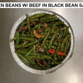 green beans w/ beef in black bean sauce