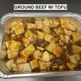 ground beef w/ tofu