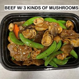beef w/ 3 kinds of mushrooms